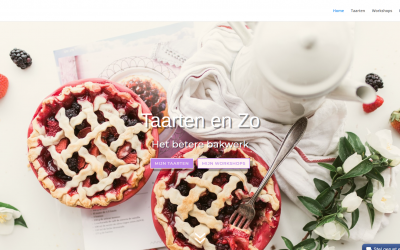 Complete website lay-out voor fanatieke bakkers