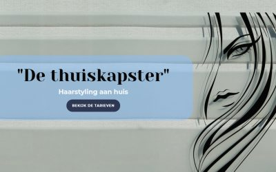 Website lay-out voor de thuiskapster
